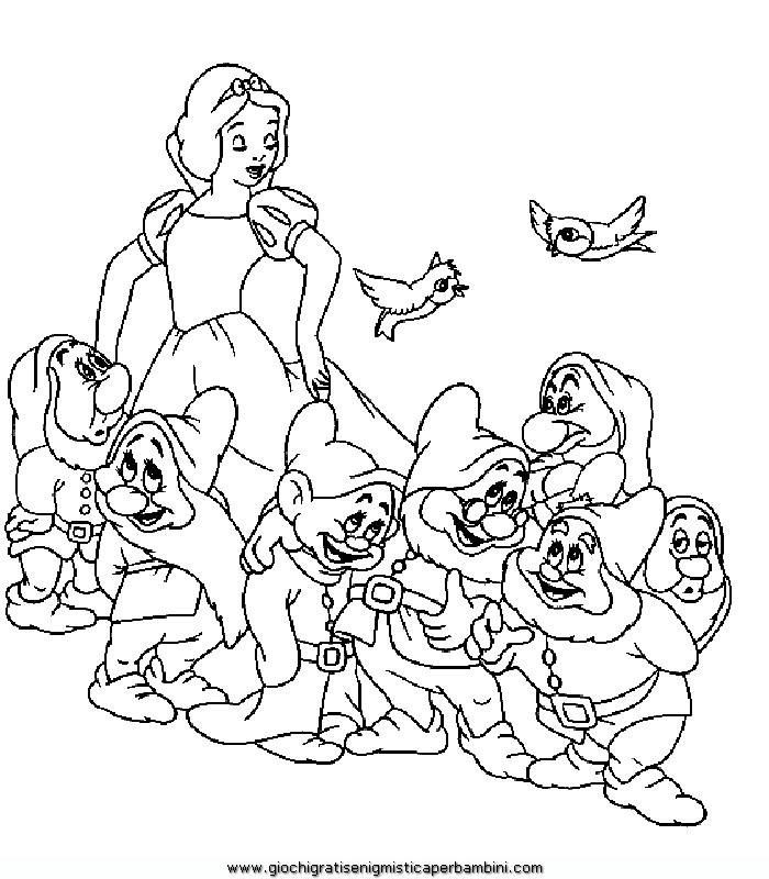 Biancanevea5 Disegni Da Colorare Per Bambini