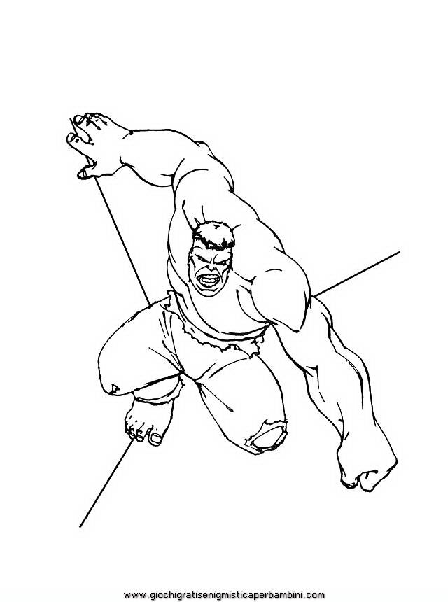 Hulk 3 Disegni Da Colorare Per Bambini