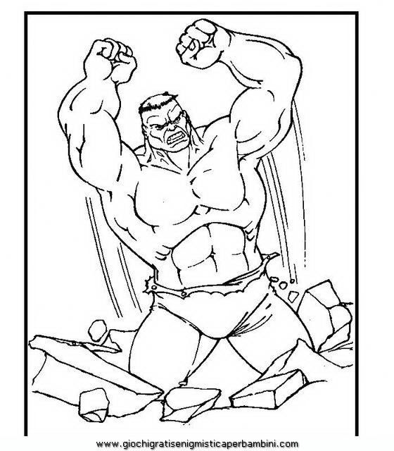 Incredibile Hulk B2 Disegni Da Colorare Per Bambini