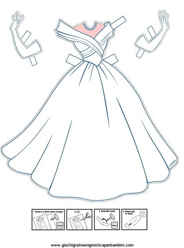 Disegni Di Vestiti Da Sposa Da Colorare E Stampare Coloradisegni