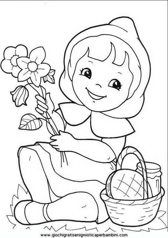 Cappuccetto rosso 03 disegni da colorare per bambini for Cappuccetto rosso da colorare