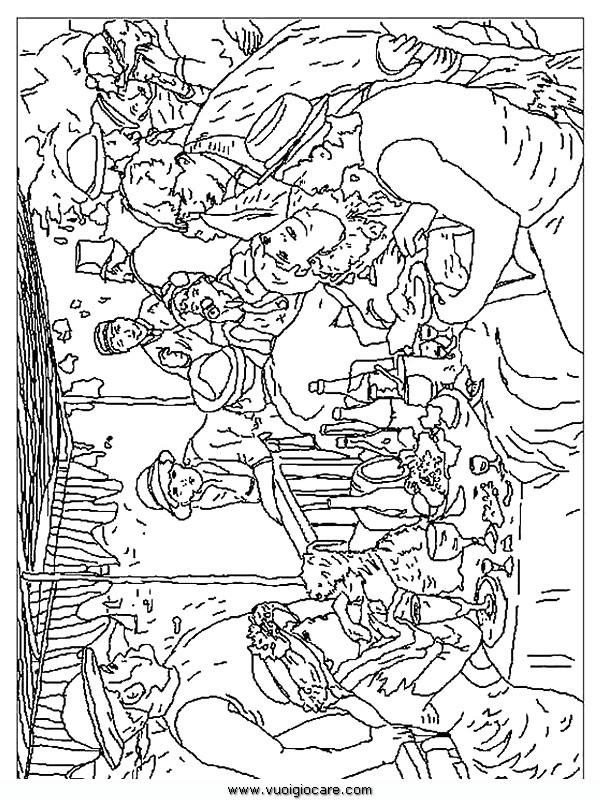 Quadri famosi 12 disegni da colorare per bambini for Quadri famosi da colorare van gogh