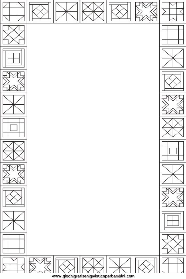 Fondi e cornici 34 disegni da colorare for Cornici semplici per foto