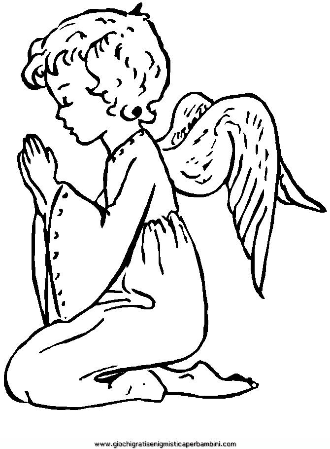 Angeli 25 Disegni Da Colorare