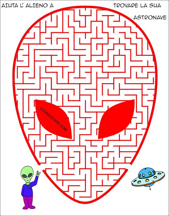 Labirinto teschio enigmistica per bambini e ragazzi for Enigmistica facile da stampare