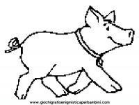 Disegni da colorare di babe maialino coraggioso for Maialino disegno per bambini