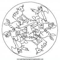 Mandala Di Animali Da Colorare