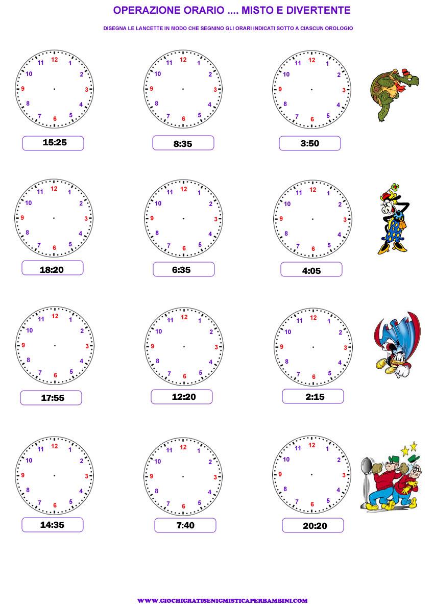 Top Esercizi per imparare a leggere l'orologio OD38